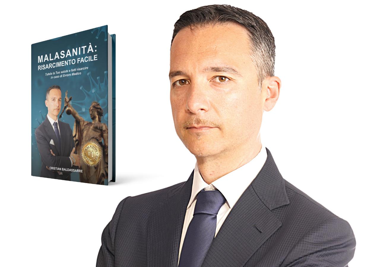 """Cristian Baldassarre con il suo libro """"Malasanità"""" conquista Amazon e diventa bestseller"""