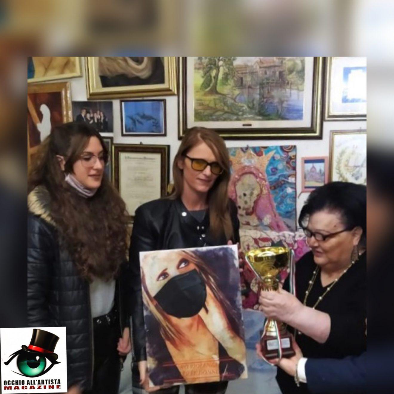 Maria Mastrojanni premiata per alti meriti Culturali ed Artistici al Salotto Artistico Culturale e Multimediale della poetessa Tina Piccolo